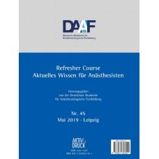 DAAF Refresher Course, Nr. 45 -2019